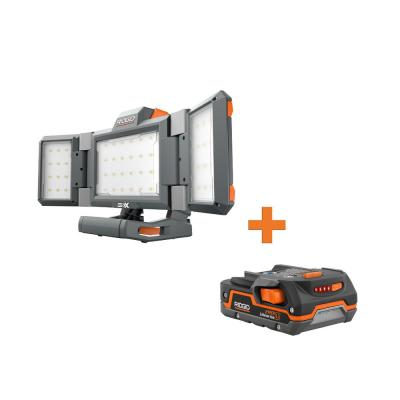 18-Volt Cordless Hybrid Folding Panel Light with 1.5 Ah Lithium-Ion Battery
