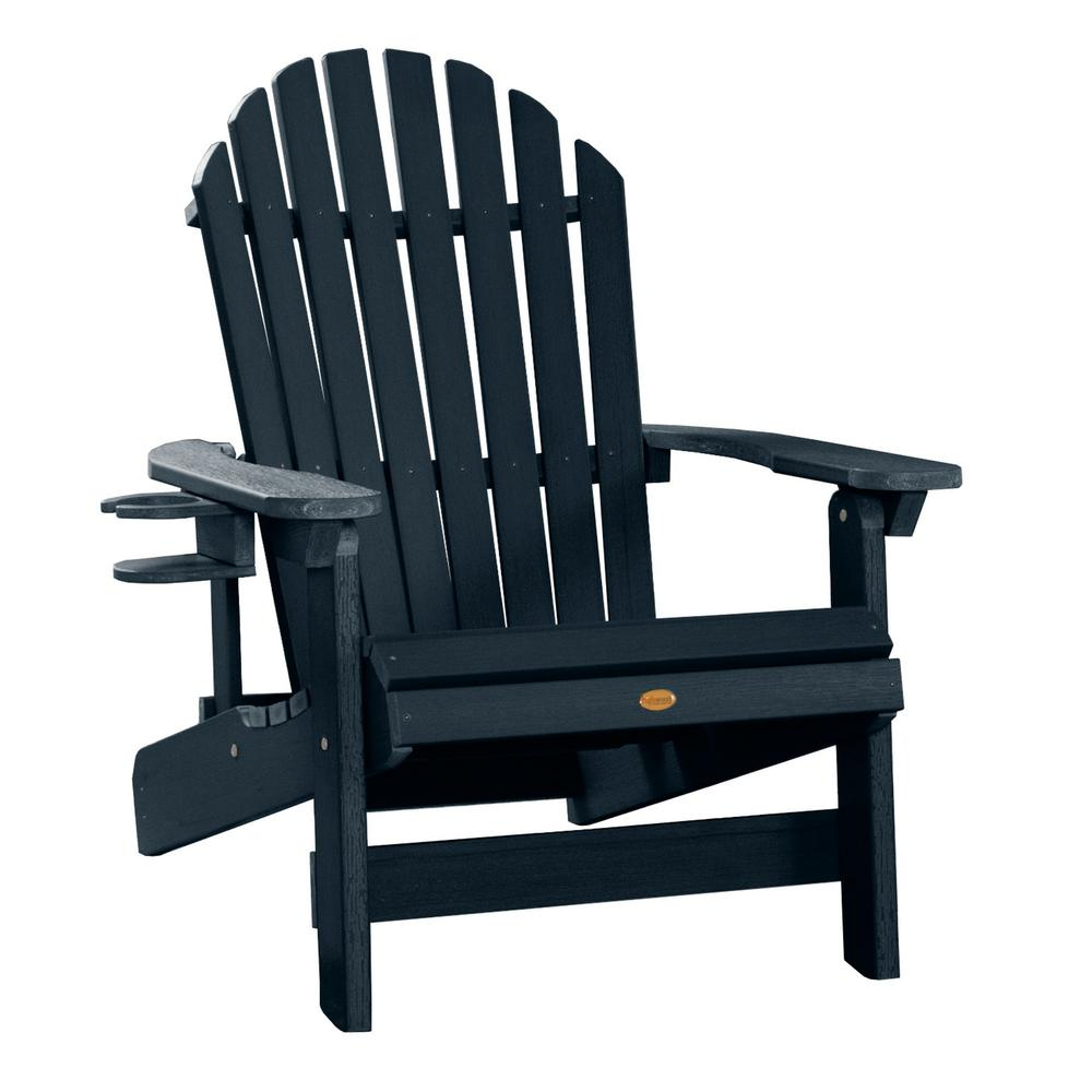 Fine Highwood King Hamilton Federal Blue 2 Piece Recycled Plastic Outdoor Seating Set Pdpeps Interior Chair Design Pdpepsorg