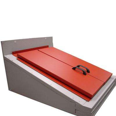 53 in. x 74 in. H Primed Red Steel Cellar Door