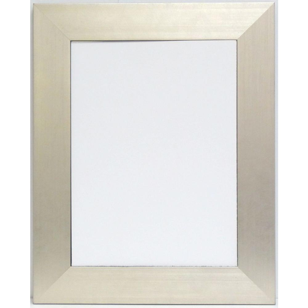 null Silverstone 29 in. x 35 in. Silver Framed Wall Mirror with Black Trim