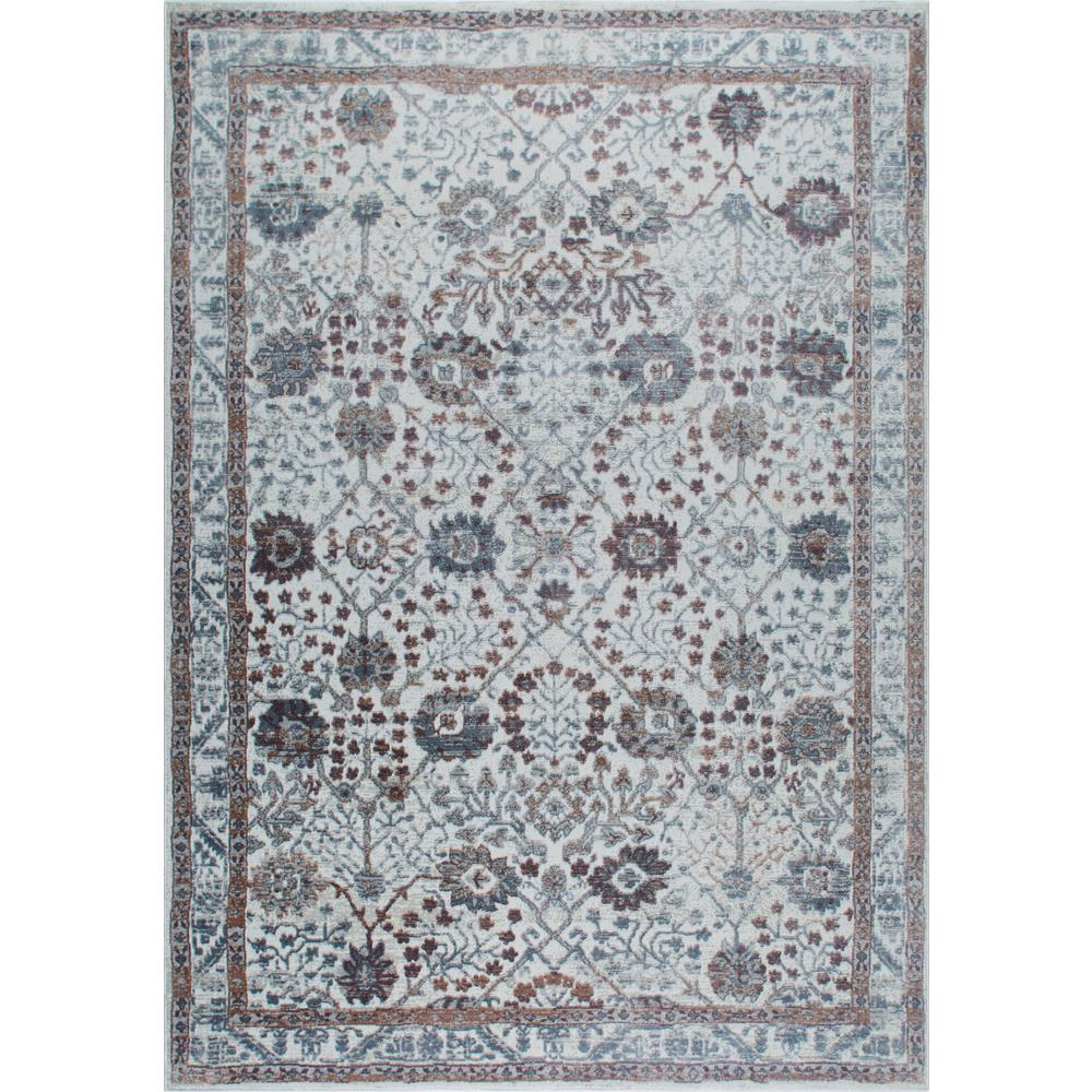 Nicole Miller Kenmare Gray Purple 9 Ft X 12 Indoor Area Rug