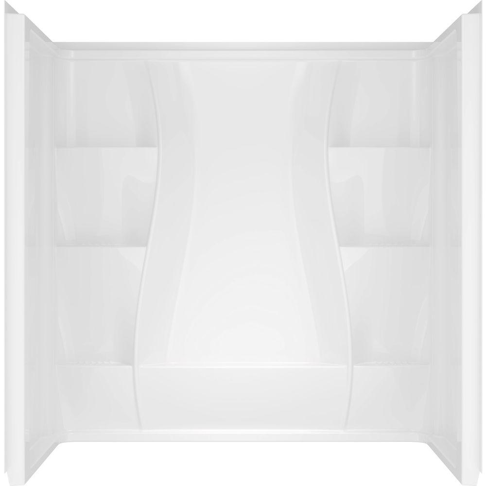 Delta Classic 400 Curve 30 In X 60 In X 62 In 3 Piece Direct To Stud Tub Surround In High Gloss White 40204 The Home Depot