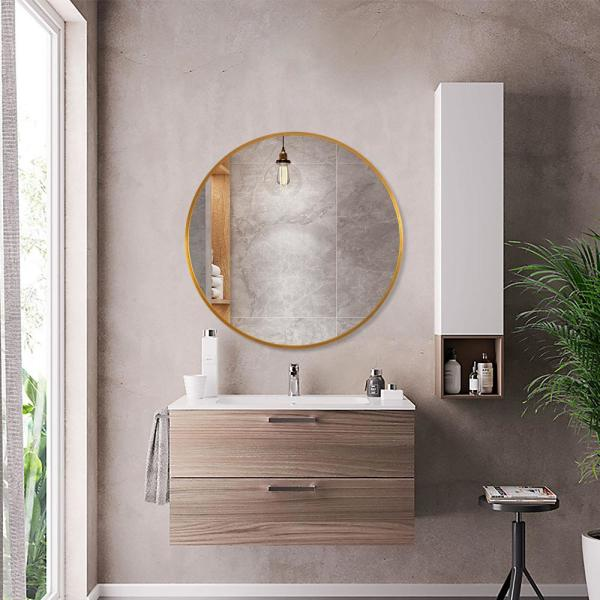 Neu Type Modern Elegant Round Hanging Wall Mounted Bathroom Vanity Mirror Jj00514zzen 1 The Home Depot