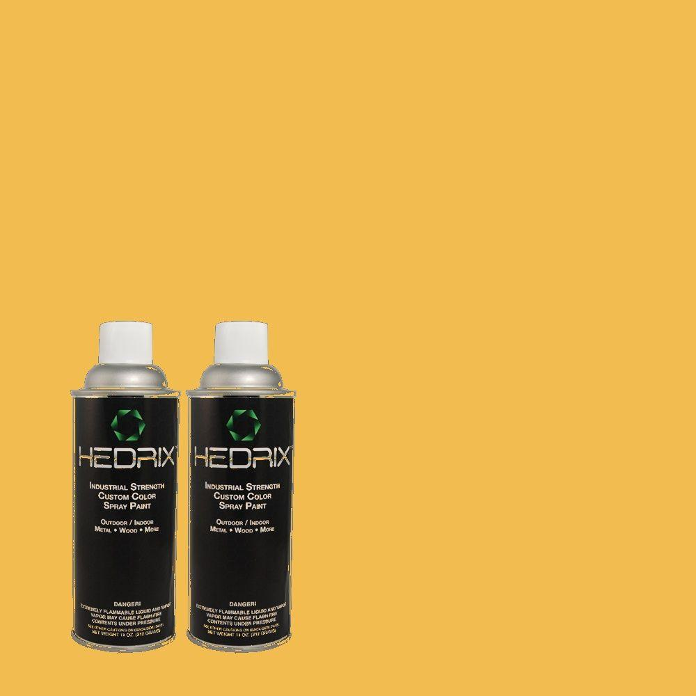 Hedrix 11 oz. Match of 1B9-6 Golden Straw Gloss Custom Spray Paint (2-Pack)
