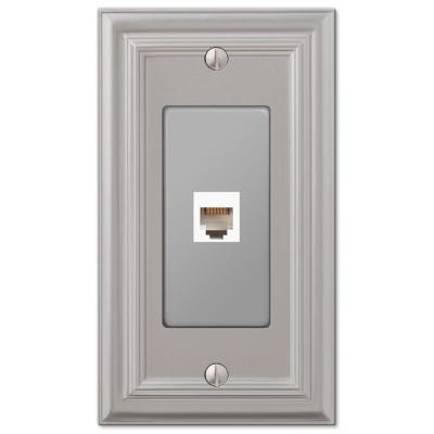 Continental 1 Gang Phone Metal Wall Plate - Satin Nickel
