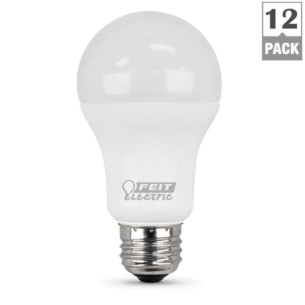 Feit Electric 100W Equivalent Daylight (5000K) A19 LED Light Bulb (Case of 12)