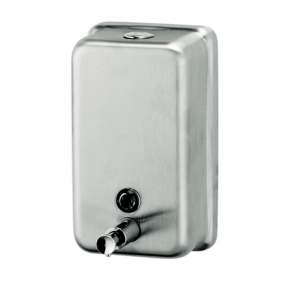 Vertical Liquid Soap Dispenser In Silver