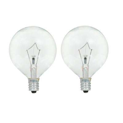 60-Watt Double Life G16.5 Incandescent Light Bulb (2-Pack)