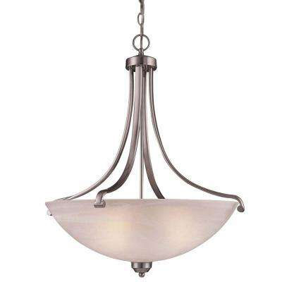 Paradox 4-Light Brushed Nickel Bowl Pendant