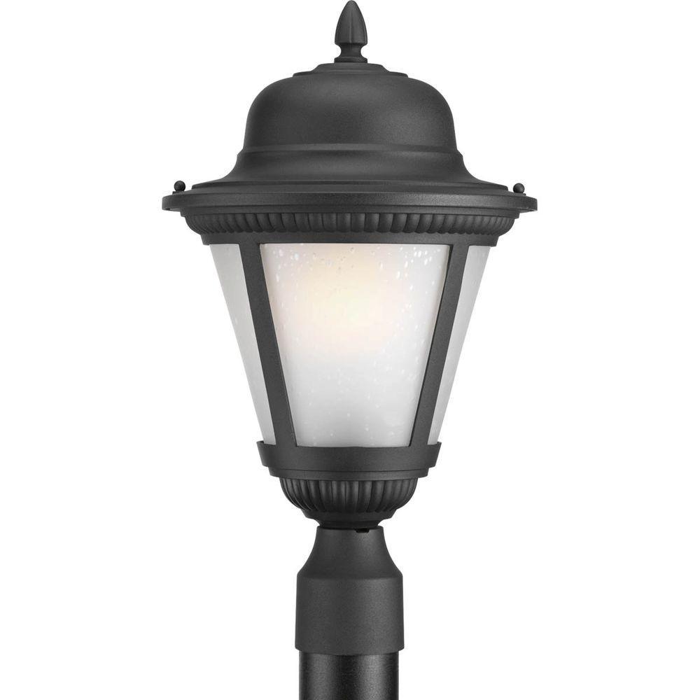 Westport Collection 1-Light Black Fluorescent Outdoor Post Lantern