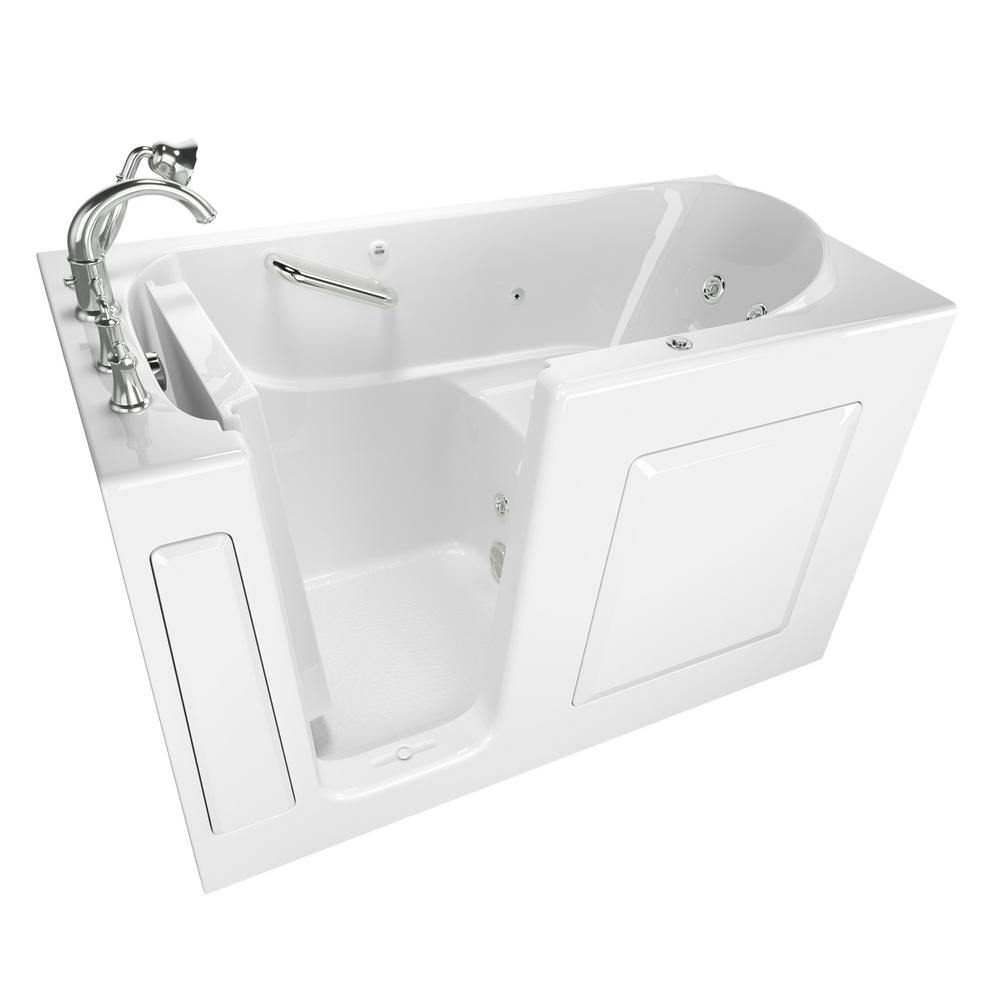 DreamLine QWALL-Tub 28-32 in. D x 56 to 60 in. W x 60 in. H 4-Piece Easy Up  Adhesive Tub Surround in White-SHBW-1360603-01 - The Home Depot