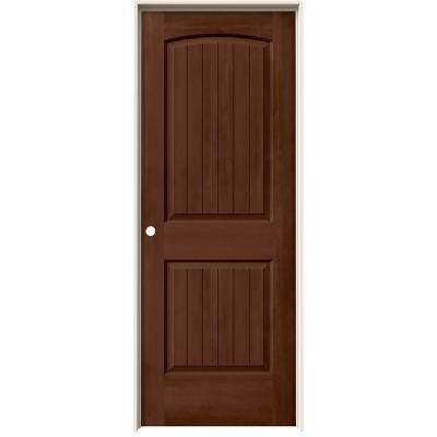 32 in. x 80 in. Santa Fe Milk Chocolate Stain Right-Hand Solid Core Molded Composite MDF Single Prehung Interior Door