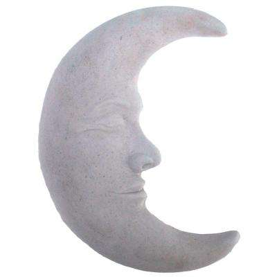 Cast Stone Large Moon Plaque Antique Gray