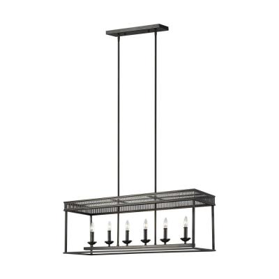 Woodruff 6-Light Antique Bronze Linear Chandelier