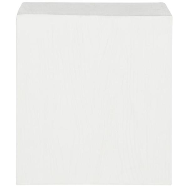 Cube Ivory Stone Indoor/Outdoor Accent Table