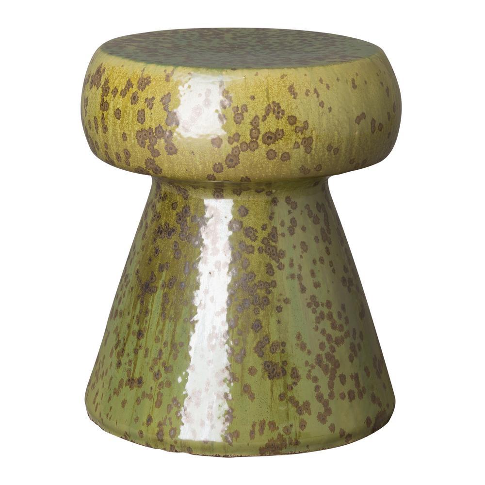 Enjoyable Emissary Portobello Moss Green Ceramic Garden Stool Pabps2019 Chair Design Images Pabps2019Com