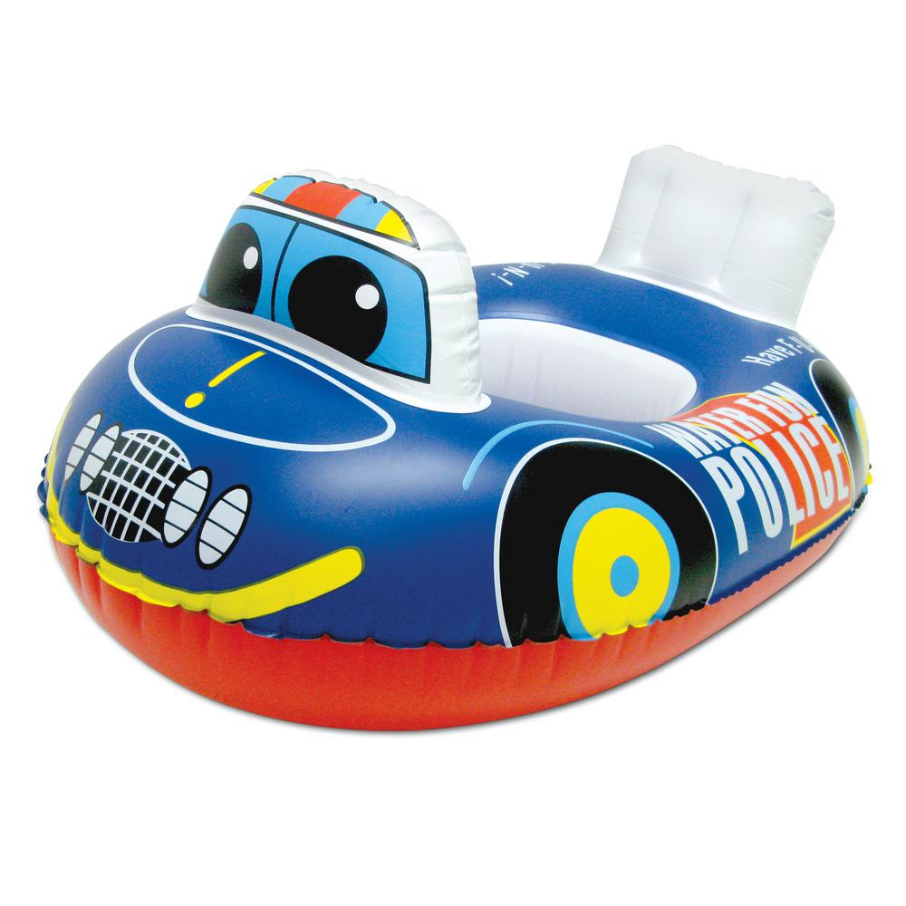 Police Car Baby Swimming Pool Float Rider Pool Toy