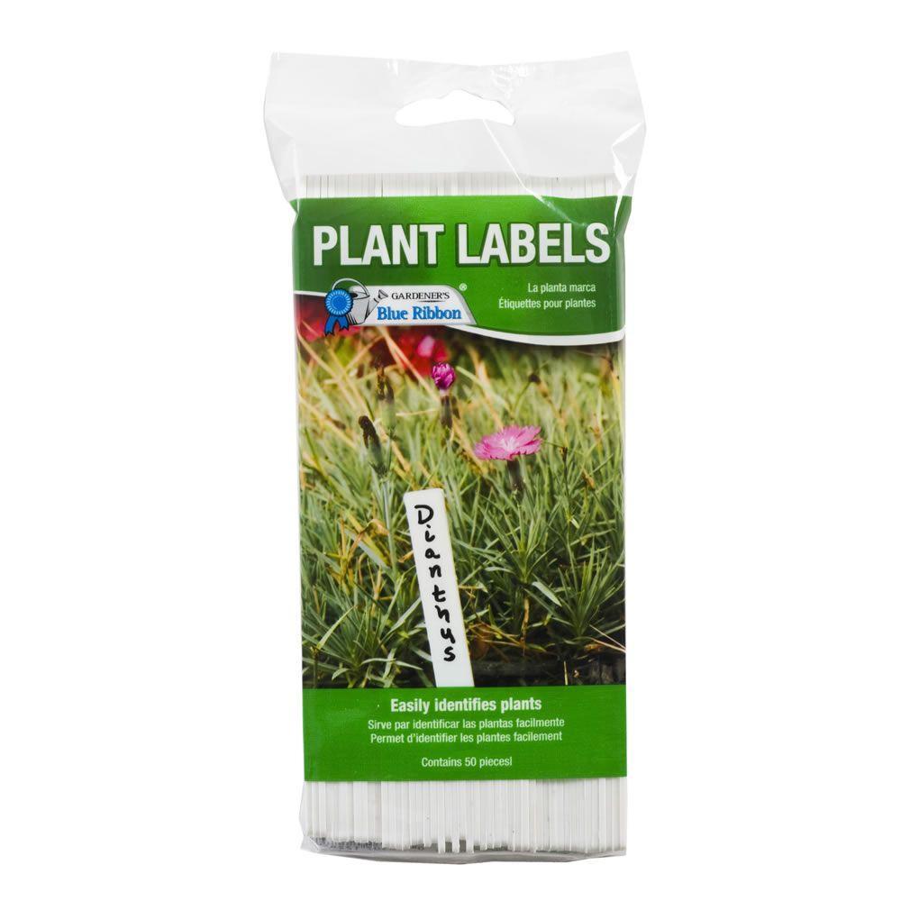 Gardener's Blue Ribbon 6 in. Plastic Plant Labels (50-Count)
