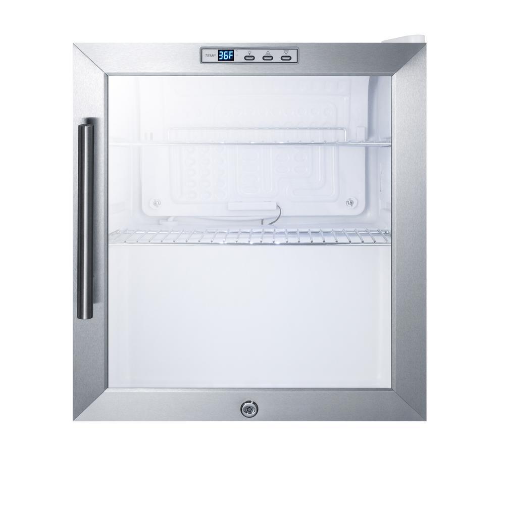 Superieur Glass Door Mini Refrigerator In White