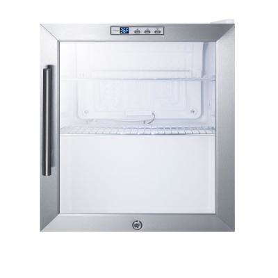1.7 cu. ft. Glass Door Mini Refrigerator in White
