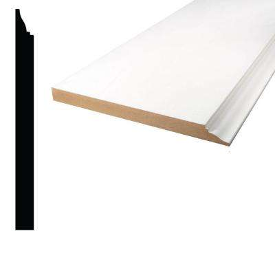 5/8 in. x 7-1/4 in. x 96 in. Primed MDF Base Moulding