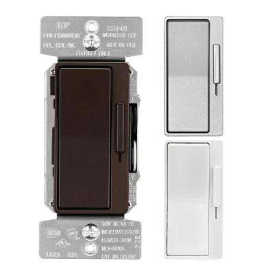 Designer Dimmer with Preset Metallic Color Change Kit, Oil rubbed Bronze/Silver Granite/White
