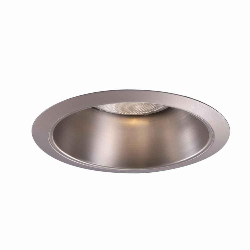 Satin Nickel Recessed Ceiling Light Reflector Cone Trim  sc 1 st  Home Depot & Halo 426 Series 6 in. Satin Nickel Recessed Ceiling Light Reflector ...