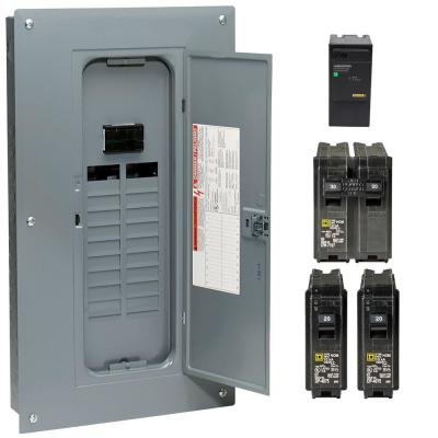 Square D Homeline 100 Amp 20-Space 40-Circuit Indoor Main