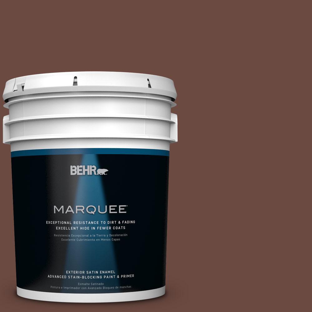 BEHR MARQUEE 5-gal. #BNC-32 Maximum Mocha Satin Enamel Exterior Paint