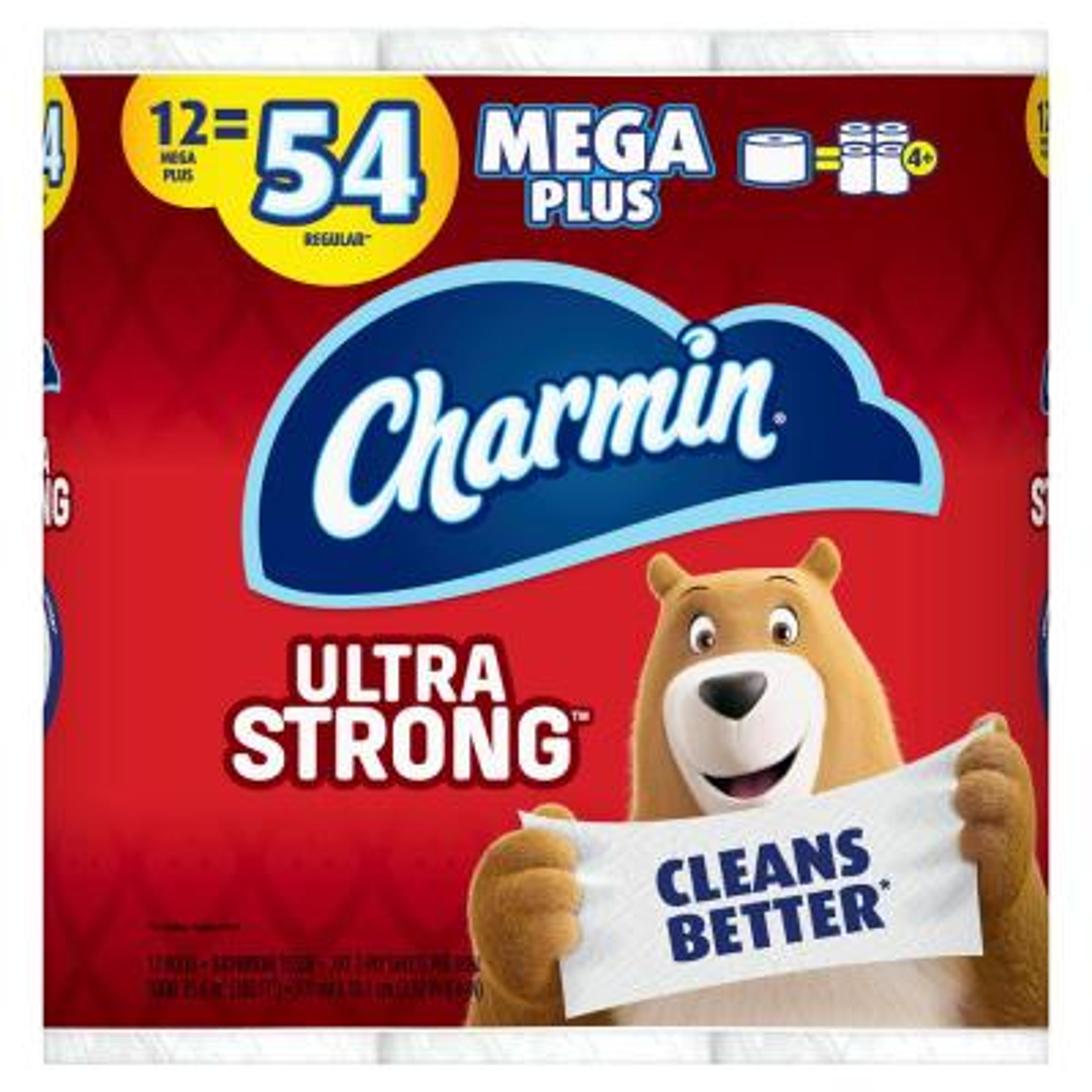 Ultra Strong Toilet Paper (12 Mega Plus Rolls)
