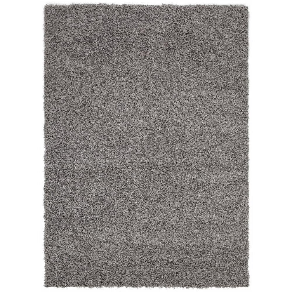 Sweet Home Stores Cozy Shag Collection Grey 5 Ft X 7 Ft