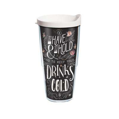 Have And Hold Keep Cold 24 oz. Double Walled Insulated Tumbler with Travel Lid