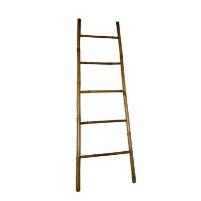 5 ft. H 5-Bar Ladder Hand-crafted in Solid Bamboo