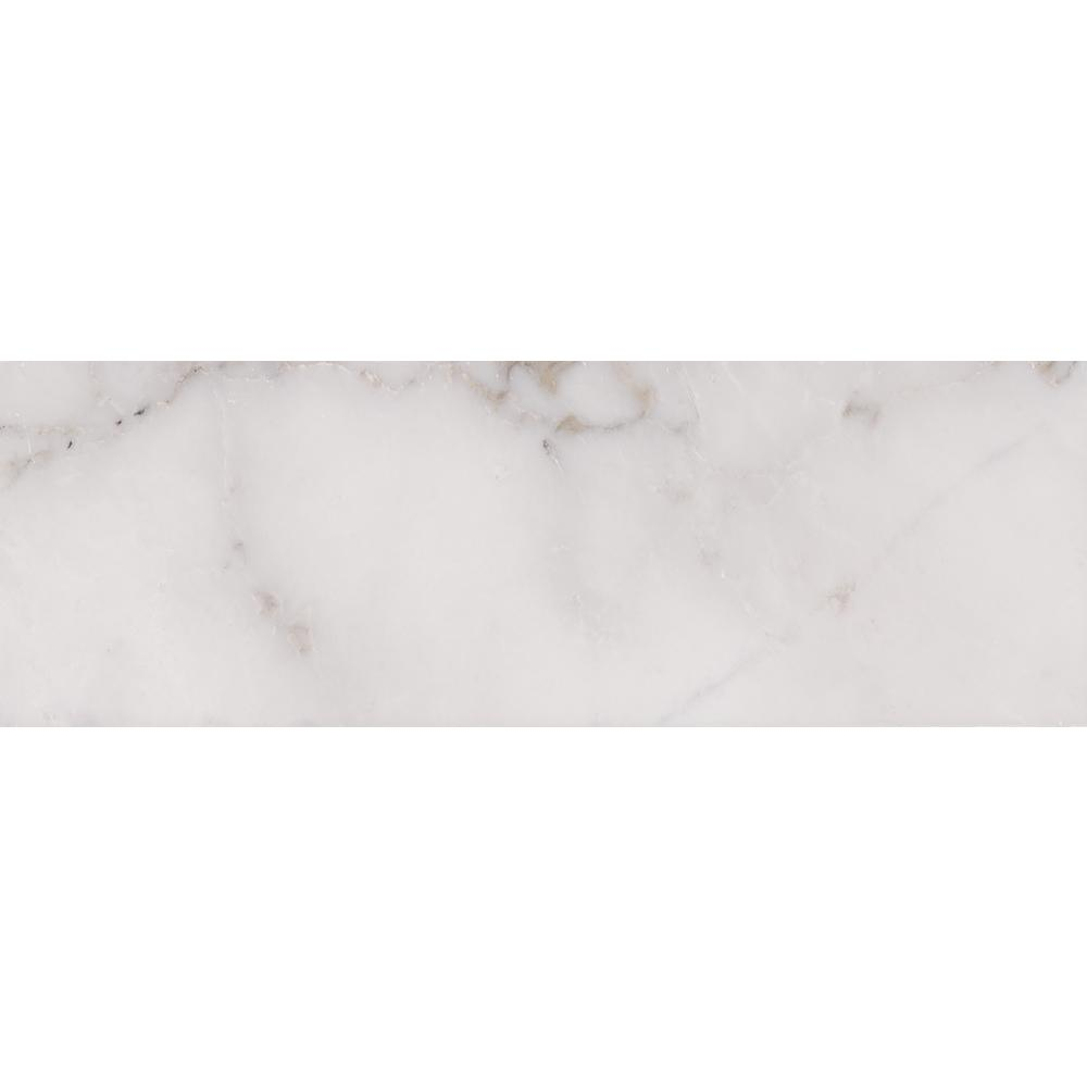 Msi Calacatta Cressa 4 In X 12 In Honed Marble Floor And Wall Tile