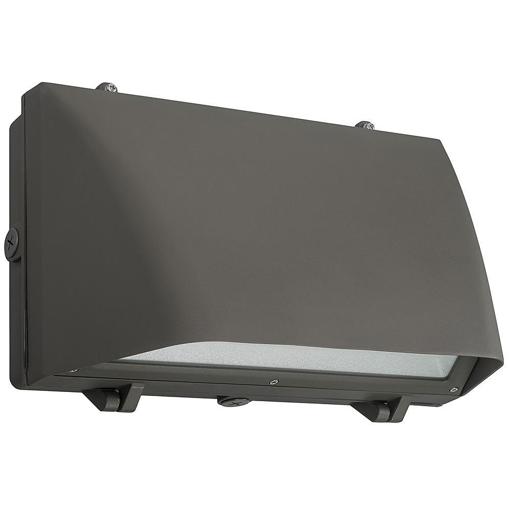 400 Watt Led Wall Pack Lights: ETi 400-Watt Equivalent Integrated LED Bronze 16 In