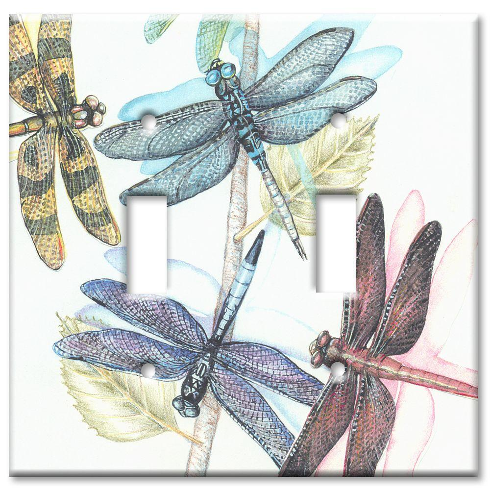 Art Plates Dragonflies 2 Toggle Wall Plate