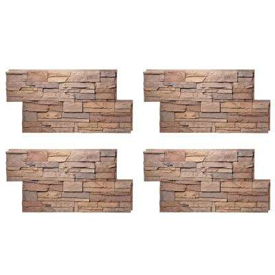 Stacked Stone 24 In. X 42 In. Desert Sunrise Faux Stone Siding Panel (