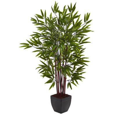 4 ft. Bamboo Silk Tree with Planter