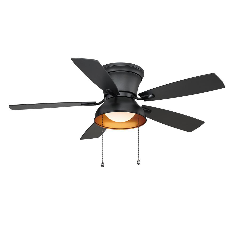 Home Decorators Collection Banneret  52 in. LED Natural Iron Ceiling Fan with Light