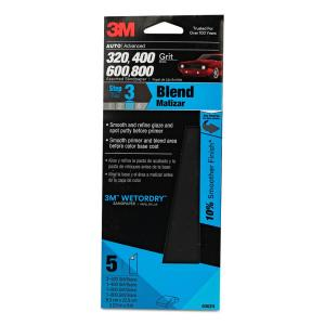 3M Wetordry 3-2/3 inch x 9 inch 320, 400, 600 and 800 Assorted Grit Sandpaper... by 3M