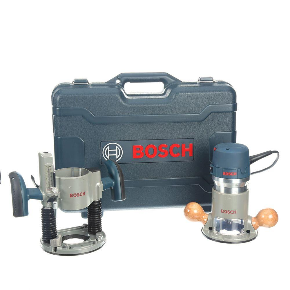 Bosch 12 Amp 2-1/4 in. Corded Peak Variable Speed Plunge and Fixed Base Router Kit with Hard Case