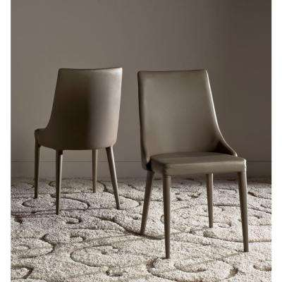 Summerset Taupe Leather Side Chair (Set of 2)