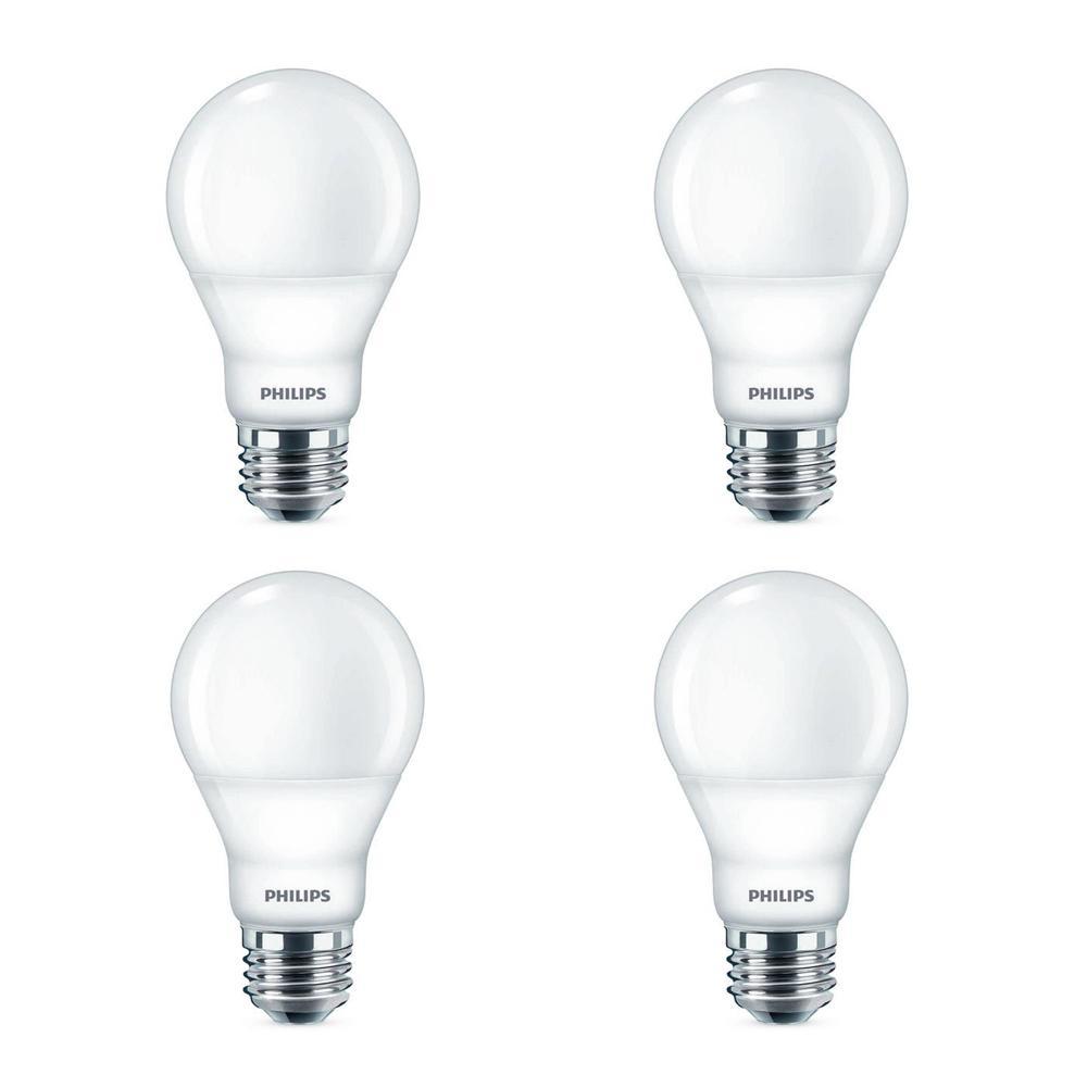 40-Watt Equivalent A19 Dimmable Energy Saving LED Light Bulb Daylight (5000K) (8-Pack)