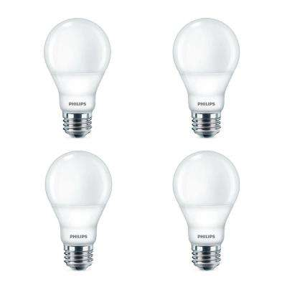 40-Watt Equivalent Daylight A19 Dimmable Energy Saving LED Light Bulb (5000K) (4-Pack)