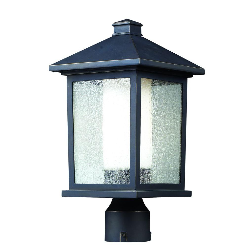 Lawrence Collection 1-Light Outdoor Oil Rubbed Bronze Post Light