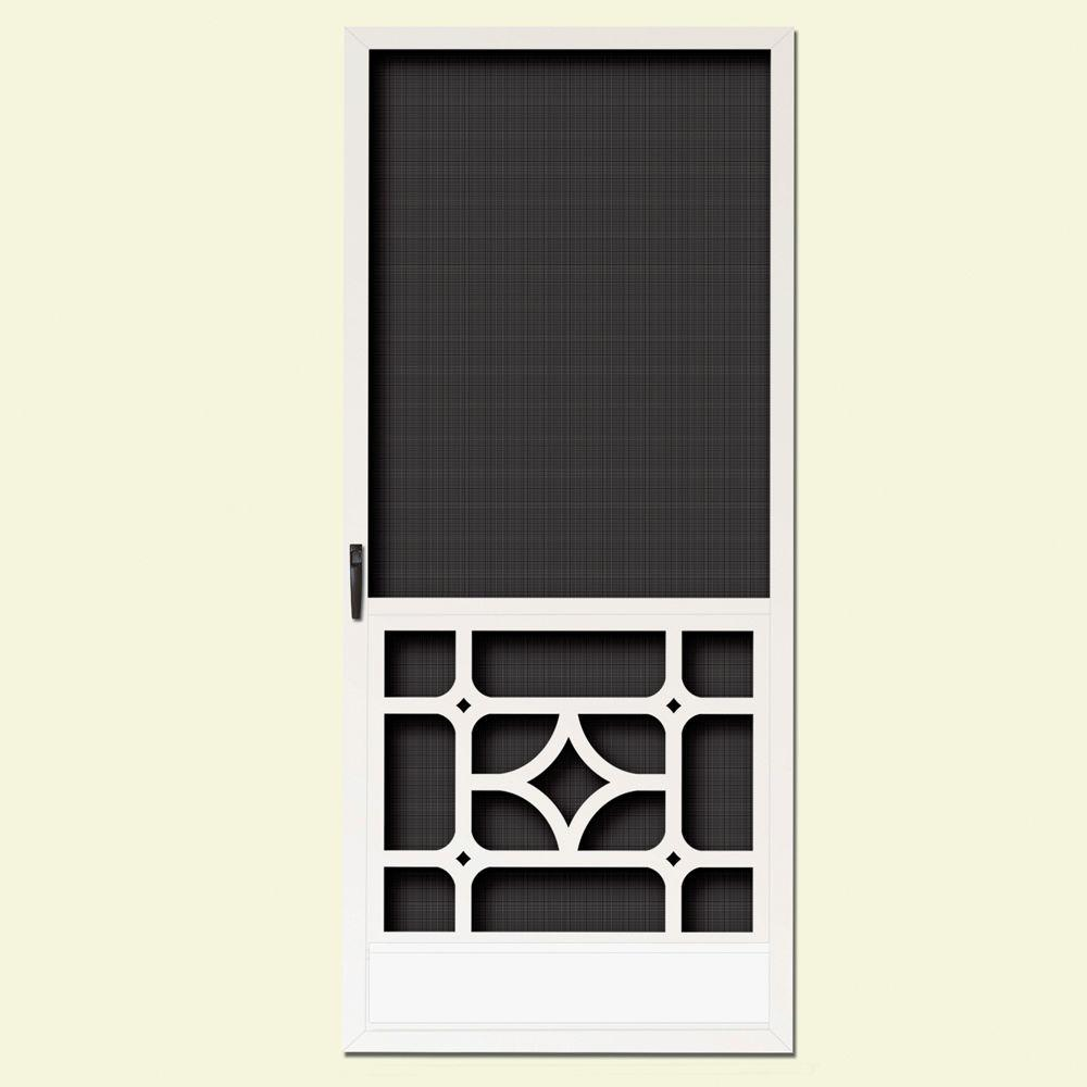 36 In. X 80 In. Catalina White Outswing Metal Hinged Screen