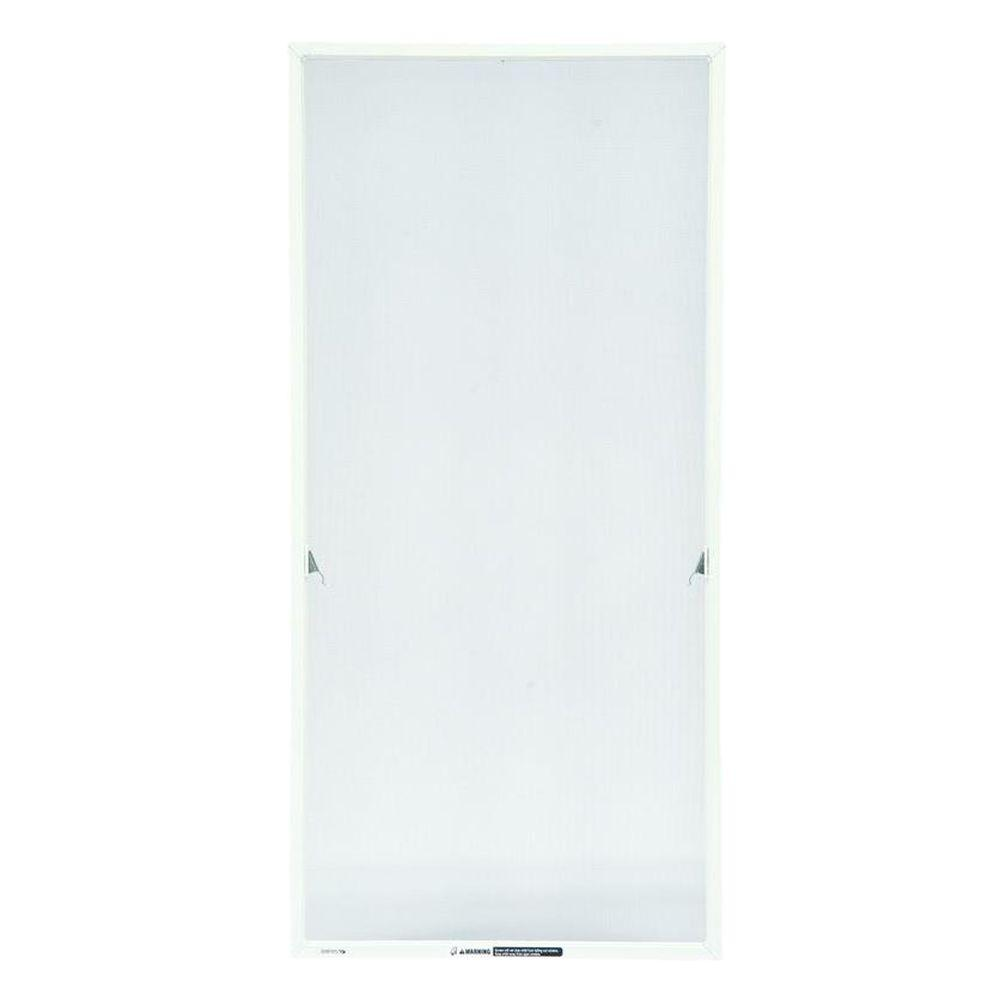 20-11/16 in. x 43-17/32 in. White Aluminum Casement Insect Screen