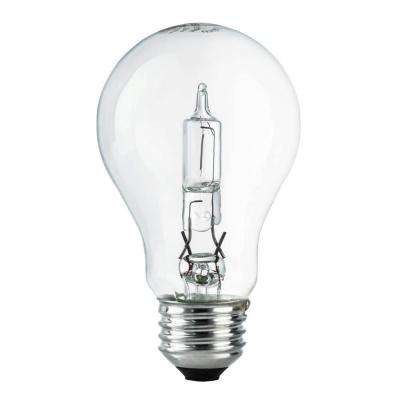 60W Equivalent Eco-Incandescent A19 Clear Dimmable Light Bulb (24-Pack)