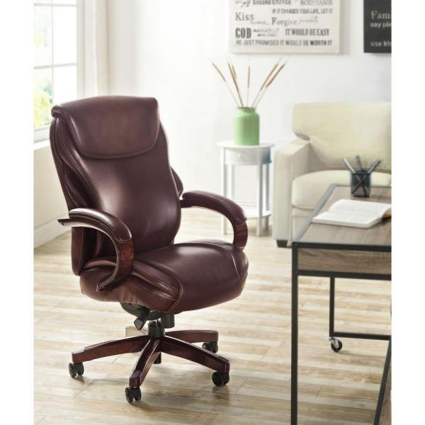 La-Z Boy Hyland Coffee Brown Bonded Leather Executive Office Chair 45779