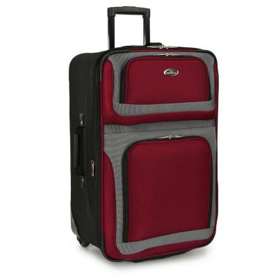 New Yorker 25 in. Red Rolling Luggage